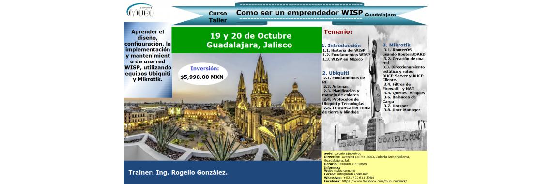 """Curso: """"Como ser un emprendedor WISP-Guadalajara"""""""