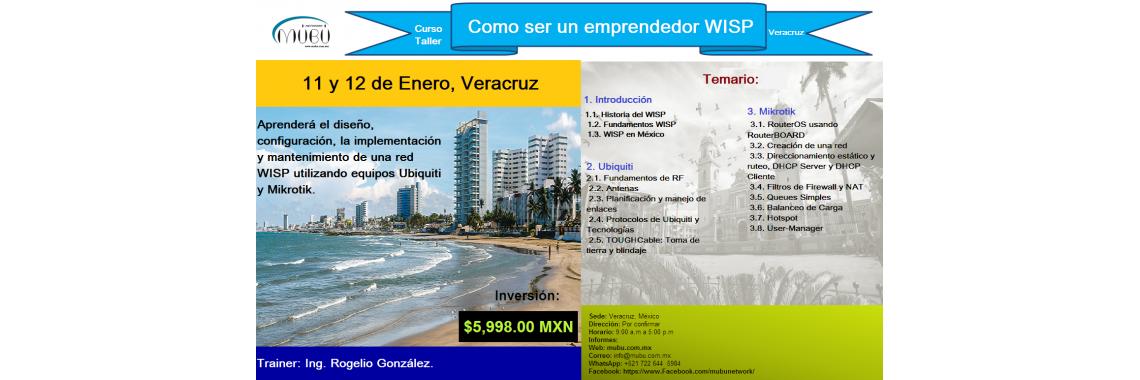"""Curso: """"Como ser un emprendedor WISP-Veracruz"""""""