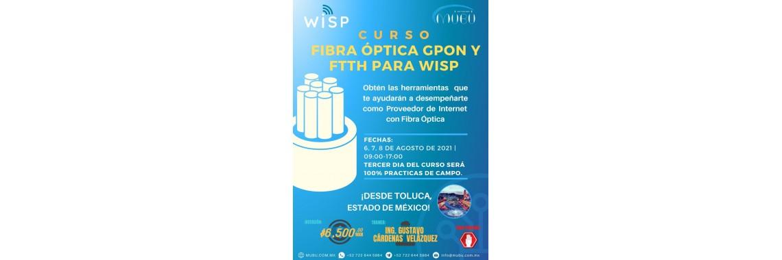 Curso de Fibra Óptica GPON y FTTH para WISP