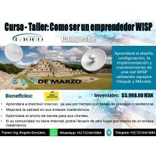 """Curso-Taller: """"Como ser un emprendedor WISP-Campeche"""""""
