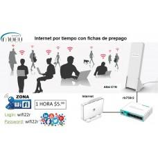 Kit para vender Internet WiFi por tiempo, con fichas de prepago